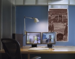 photo from Fog Creek office manipulated to show coal mine through window